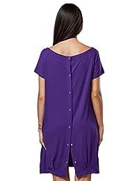 快乐妈妈。 女式 Labor Delivery Hospital Gown 哺乳孕妇。 097p 紫色 US 10/12