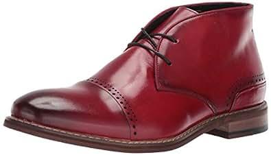 STACY ADAMS Ashby Cap-Toe 系带马球靴 蔓越莓色 12 M US