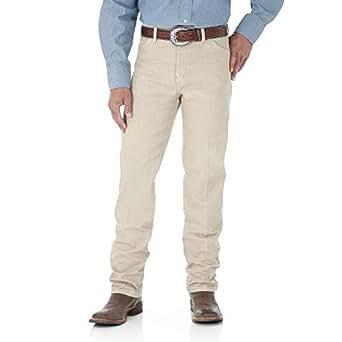 Wrangler/威格男纯色棉弹宽松直筒长裤牛仔裤13MWZTN Prewashed Tan 40/34