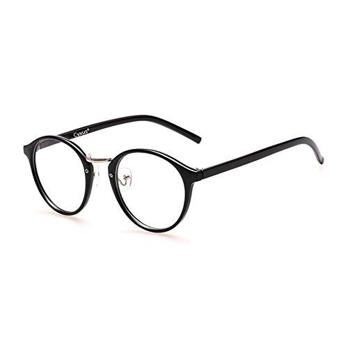 Cyxus 美国赛施 防辐射抗蓝光眼镜平光 防眼疲劳保护***电脑游戏男女通用款 透明镜片圆形复古镜架