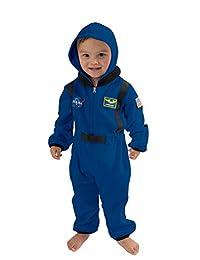 Cuddle Club 抓绒婴儿睡袋紧身衣裤适合新生儿到 5 岁 – 婴儿睡衣冬季夹克外套外套幼儿服装 Astronaut - Blue 4T