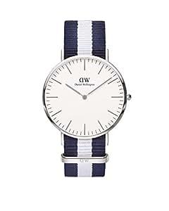 Daniel Wellington 丹尼尔•惠灵顿 瑞典品牌 Classic系列 银色表圈表扣 石英手表 男士腕表 DW00100018(原型号0204DW)
