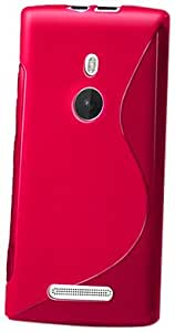 JUJEO 2108055996 Soft Cover for Nokia Lumia 925 - Wave - Non-Retail Packaging - Pink