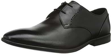 Clarks Bampton Derby 男士系带正装鞋, Black (Black Leather), 8 UK