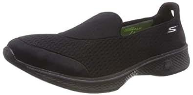 Skechers 斯凯奇 Perfomance 女式 Go Walk 4Pursuit 步行鞋 黑色 6 B(M) US