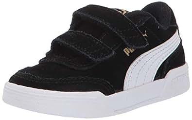 PUMA Caracal Velcro 儿童运动鞋 Black/White/Team Gold 5 Toddler