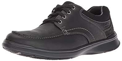 Clarks 其乐 男士 Cotrell Edge 牛津鞋, Black Oily Leather, 7 D-Medium