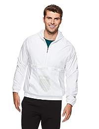 K-Swiss 男士 1/2 拉链套头风衣夹克 - 防水跑步和热身上衣