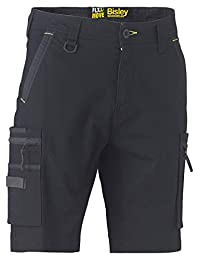 Bisley 工作服 UKBSHC1330_BBLK Flex & Move 拉伸 Untility 拉链工装短裤 - 黑色 黑色 46 UKBSHC1330_BBLK