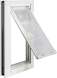 "Endura Flap 宠物门 - 双翻门安装,坚固的铝制框架 白色 Large - Single Flap - 10"""