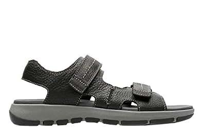 Clarks 男 生活休闲鞋 Brixby Shore 26131545 黑色 39.5