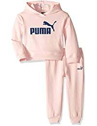 Puma 女童抓绒连帽衫套装