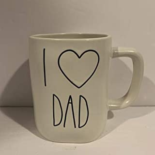 Rae Dunn I LOVE DAD 马克杯 - 陶瓷 - 16 盎司 - 父亲礼物