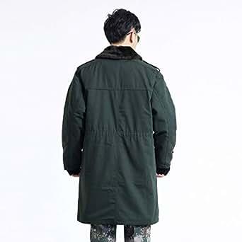 冬季保暖松枝绿干布军大衣中长款防寒棉大衣男士棉服XXL 军绿