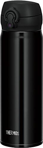 THERMOS 膳魔师 水杯 真空隔热便携式保温杯【一键开启式】 0.5升 黑 0.5L JNL-503 JTB