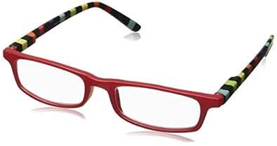 Peepers 中性成人款Utopia 299200 矩形老花镜,红色