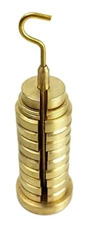 GSC International 250012 黄铜 Gsc 开槽重量套装,带挂钩 13 件,250 克,8.81 盎司 重量