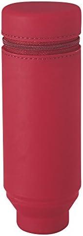 Lihit Lab 立式文具盒 Smart Fit Actact 本体サイズ:172mmx60mmx60mm/130g 红色