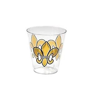 Party Essentials N102030 20 只装印花硬塑料 10 盎司玻璃杯/,透明 透明 2-Ounce N22030