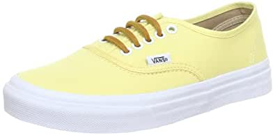 VANS 范斯 Authentic Slim 女 帆布鞋/硫化鞋 VN-0QEV7GT05500M 黄色 37