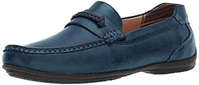 STACY ADAMS 男士 Cisco 一脚蹬驾驶风格乐福鞋 蓝色 14 M US