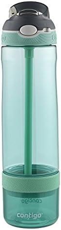 Contigo 康迪克 AUTOSPOUT Ashland 吸管水瓶,带浸泡器,26盎司/约769毫升,灰绿色