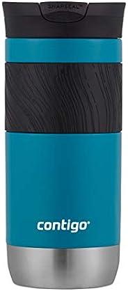 Contigo 康迪克 SnapSeal Byron 不锈钢旅行杯,16盎司(约454ml),Vivacious 杜松色(Juniper) 16盎司 2094844