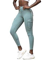 Firm ABS 女式健身打底裤无缝运动裤口袋跑步锻炼瑜伽收腹裤