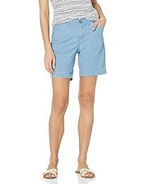LEE 女式常规版型斜纹棉布休闲短裤