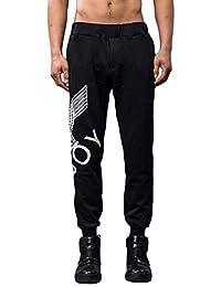 BOY LONDON 纯棉鹰款中性长裤 黑色/白色