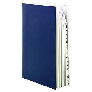 Smead 桌面文件/圆筒隔片,字母尺寸 字母/数字 Legal 蓝色