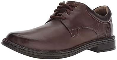 CLARKS 男式 Gadson 平纹牛津鞋 深棕色皮革 070 M US