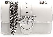PINKO 女士 Love Mini Simply C Vitello 套装单肩包,6x12.8x20.8 厘米