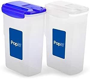 Popit! 密封食品容器套装,不含双酚 A,经 FDA 批准,* 防漏、微波炉、冷冻剂、可用洗碗机清洗,Popit! 2 x 77 fl oz Pitcher Set