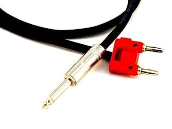 Conquest Sound CS116B 3-Feet Neutrik 1/4-Inch to Double Banana Plug 16 Gauge Speaker Cable