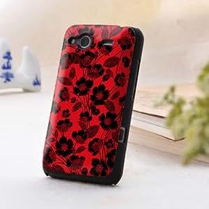 手机工坊 HTC G15/Salsa/C510e 浮雕 手机壳 手机保护壳 红色暗香