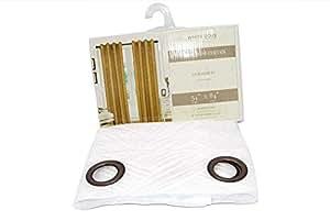 白鸽蕾丝人字呢窗帘带索环 137.16 厘米 x 213.36 厘米,优质象牙色