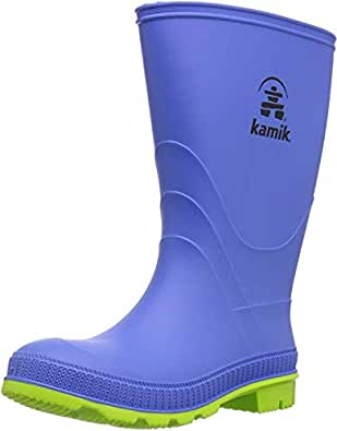 Kamik Boys' Stomp Rain Boot, Blue, 11 M US Little Kid