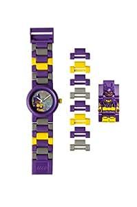 LEGO BATMAN 电影蝙蝠女儿童迷你人偶表链 buildable 手表   紫色/yelow   塑料   28MM 保护套 diameter  ANALOGUE 石英   男孩女孩   官方