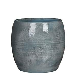 Mica Decorations Lester 1002891 锅 圆形 Terracotta 蓝色 高度 26 厘米 直径 28