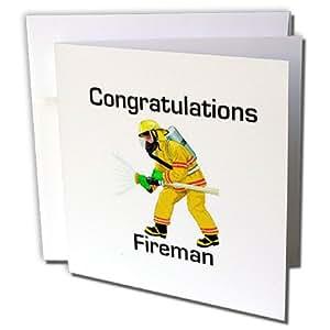 Florene 祝贺您 - 祝贺贺您与消防员一同开火机的图片 - 贺卡 Individual Greeting Card