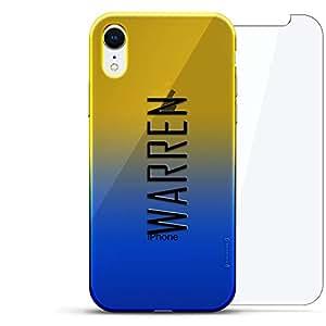 奢华设计师,3D 印花,时尚,高端,高端,Chameleon 变色效果,360 保护玻璃包手机套 iPhone Xr - Dusk Blue Tamara,现代字体名字LUX-IRCRM2B360-NMWARREN2 NAME: WARREN, MODERN FONT STYLE 蓝色(Dusk)