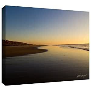 ArtWall Lindsey Janich 'Equihen Plage' Gallery-Wrapped Canvas Artwork, 16 by 24-Inch