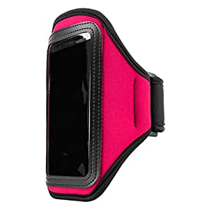 Vangoddy Waterproof Workout Armband for Smartphones with Key Slot - Retail Packaging - Magenta