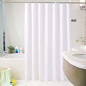 "ENNAS 182.88 厘米浴帘带塑料挂钩 5 种图案可供选择 白色 72"" x 72"""
