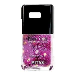 mitas 壳 硬质 印刷 *油 花 花朵图案 花朵 花NPC-2108-D/U11_SIMfree 18_HTC U11 (U11_SIMfree) 花D