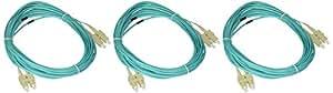 eDragon ED85900 万兆水光纤电缆,LC/LC,多模式,双工,50/125,4mED90201 SC/SC, Multimode, Duplex, 50/125 10 Meter (3 Pack)