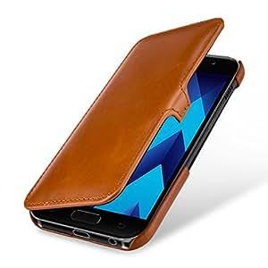 StilGut 书籍类型超薄,真皮手机壳,三星 Galaxy A5 (2017) 翻盖保护套SSA520DJ3STVTBN Cognac Brown - with Clip