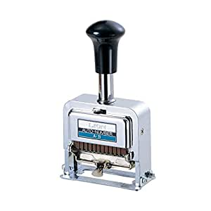 Lion Pro-Line Heavy-Duty Automatic Numbering Machine, 12-Wheel, 1 Numbering Machine (A-21) -海外卖家直邮