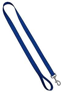"Moose 宠物服装狗项圈 - 彩色可调宠物项圈,美国制造 - 2.54 cm 宽 太平洋蓝 Leash: 3/4"" x 4'"
